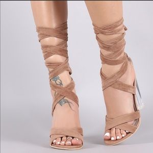 Shoes - clear heel